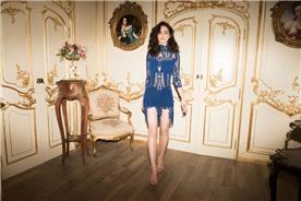 שמלה כחולה לאירוע
