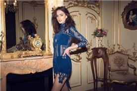 שמלה לאירוע בצבע כחול