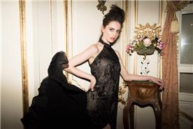 שמלת ערב בדגם קולאר