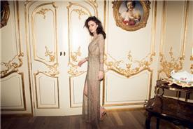 שמלת ערב בשילוב חרוזים