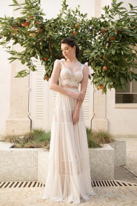 שמלת כלה בשליוב מחוך בטן