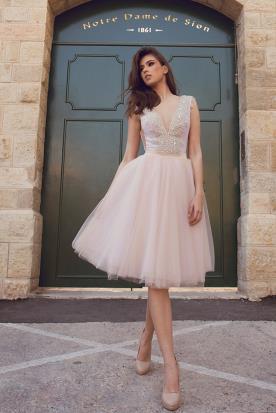 שמלת כלה עם חצאית טוטו