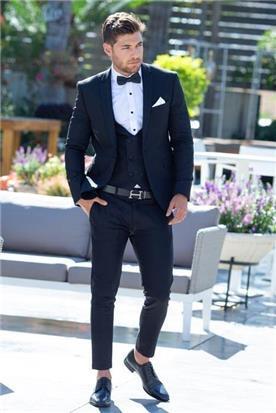 חליפת חתן: וסט, חליפת שלושה חלקים, חליפה בגזרה ישרה, חליפה בגזרת סקיני, חליפה בדוגמה חלקה, חליפה בצבע כחול - ESPANOL אספניול אופנה וחתנים