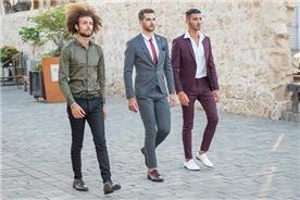 חליפת חתן: חולצה, חליפה בצבע בורדו, חליפת שני חלקים, חליפת שלושה חלקים, מכנסיים, חליפה בגזרה ישרה, חליפה בדוגמה חלקה, חליפה בצבע אפור - ESPANOL אספניול אופנה וחתנים