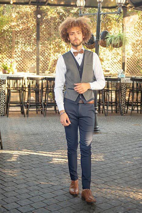 חליפת חתן: חולצה, וסט, מכנסיים - ESPANOL אספניול אופנה וחתנים