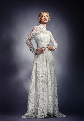 שמלת כלה מיני ומעל תחרה ארוכה