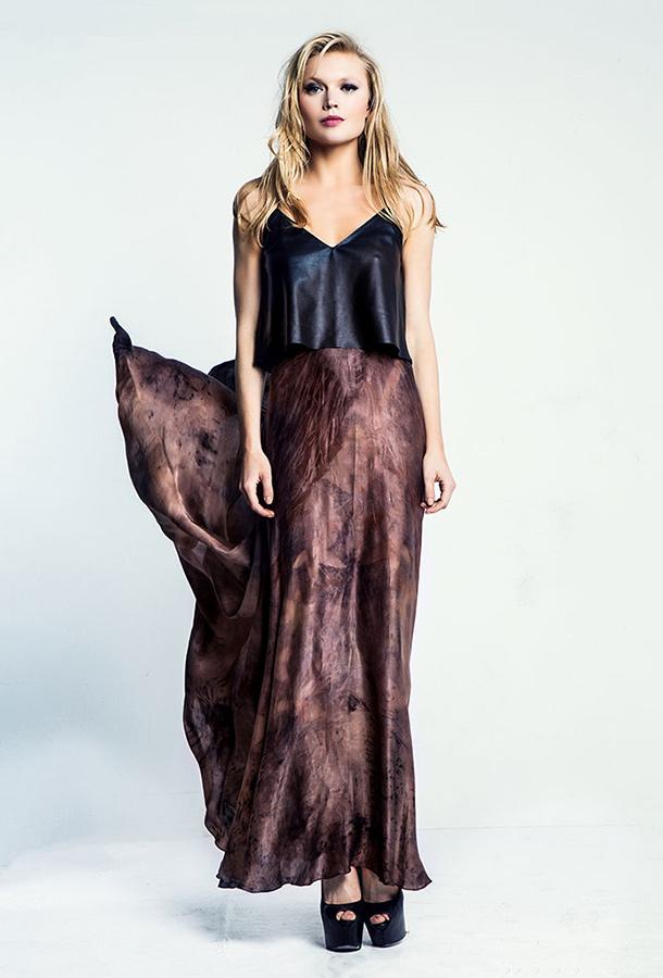 שמלת ערב שני חלקים חצאית מקסי