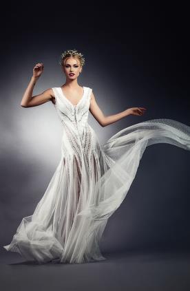 שמלת כלה עדינה מתנפנפת