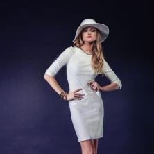 שמלת כלה קצרה צמודה עם שרוולים