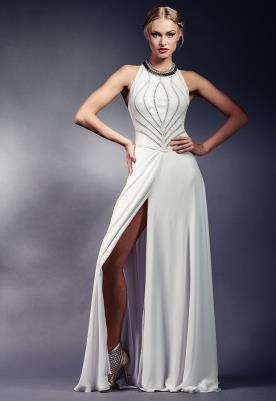 שמלת כלה קולר ושסע ארוך
