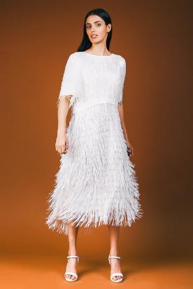 שמלת כלה צנועה שני חלקים