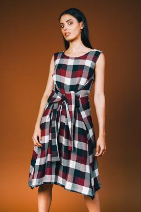 שמלת ערב משובצת