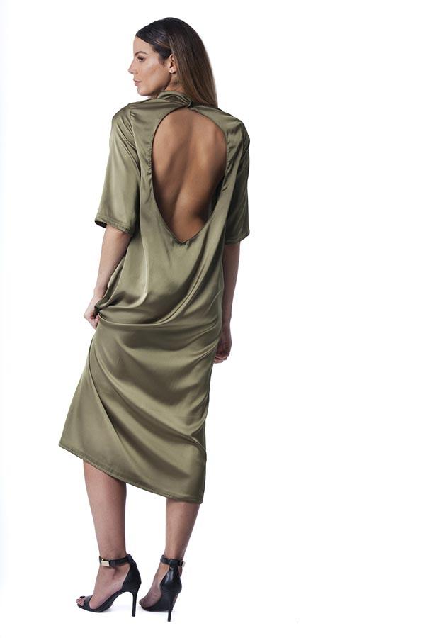 שמלת ערב מפתח גב עגול