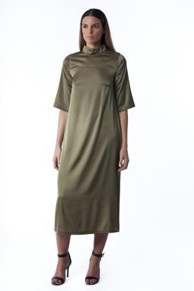 שמלת ערב ירוק חאקי