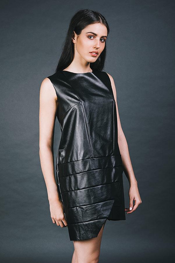 שמלת ערב דמוי עור