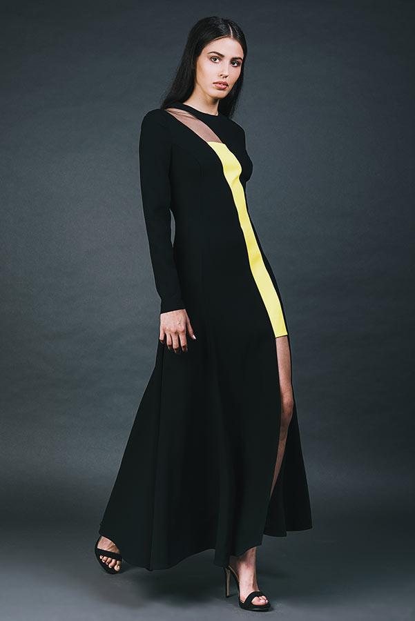 שמלת ערב משולבת במיני