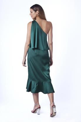 שמלת ערב ירוק בקבוק
