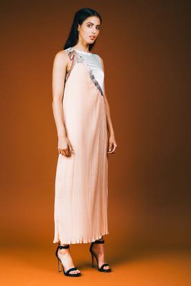 שמלת ערב בשני צבעים