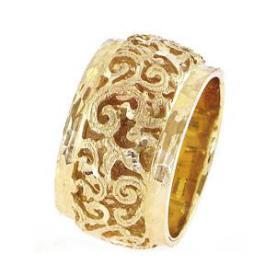 טבעת נישואין עיטורי עלים