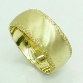 טבעת נישואין קעורה חלקה