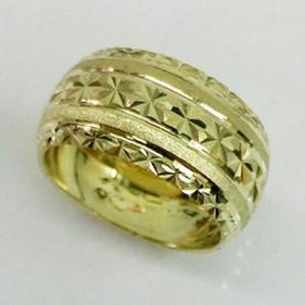 טבעת נישואין קמורה זהב צהוב