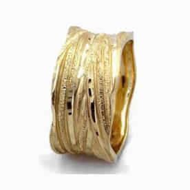 טבעת נישואין פסים גליים