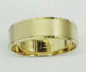טבעת נישואין לגבר זהב רחבה