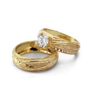 סט טבעות נישואין ואירוסין