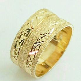 טבעת נישואין שתי שורות ריקועים