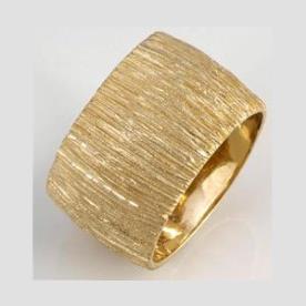 טבעת נישואין קעורה זהב צהוב