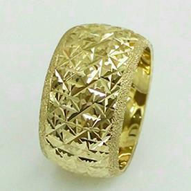 טבעת נישואין קמורה רחבה