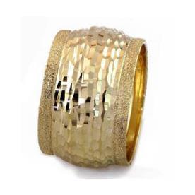 טבעת נישואין פסים בקצוות