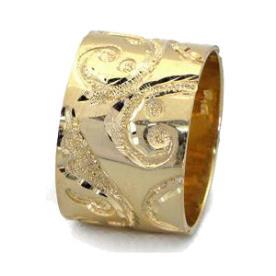 טבעת נישואין עלים מסולסלים