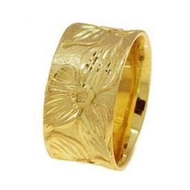טבעת נישואין דוגמת פרחים