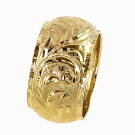 טבעת נישואין וינטג' עלים