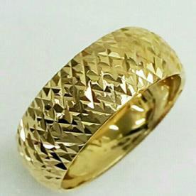 טבעת נישואין חריטות מעוינות