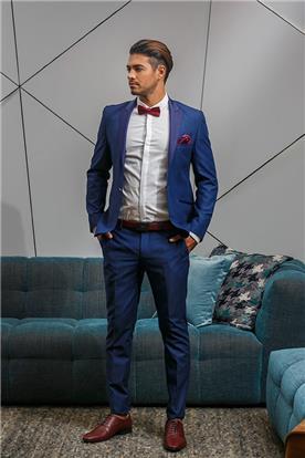 חליפה כחולה חתן יוקרתית
