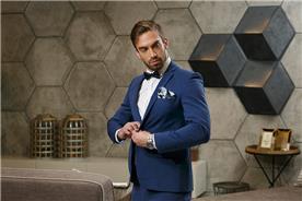 חליפת חתן כחולה בעיצוב יוקרתי