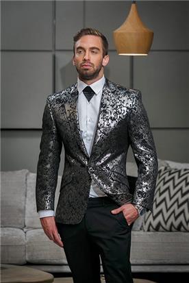 חליפה כסופה ערב לגברים