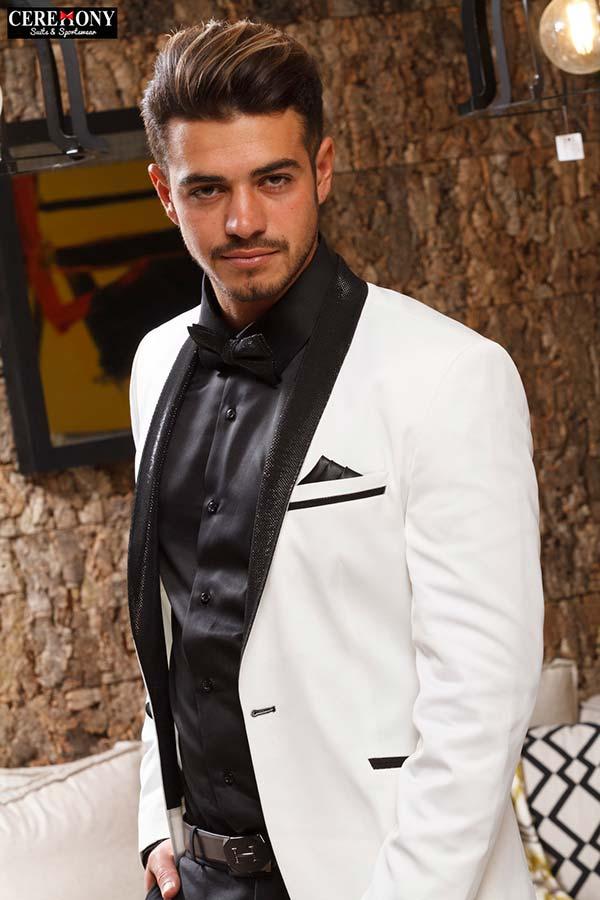 חליפת חתן שחור לבן