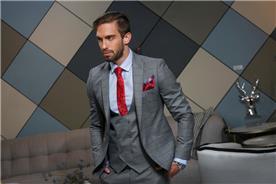 חליפה אפורה לאנשי עסקים