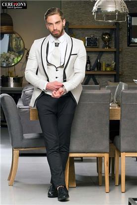 חליפה שחור לבן מעוצב