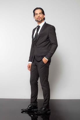 חליפת חתן שחורה סקיני