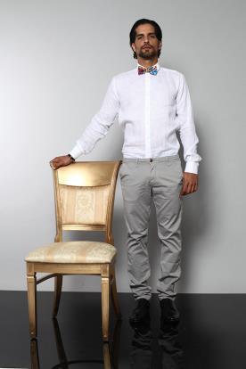 חולצה ומכנסיים לחתן עם פפיון