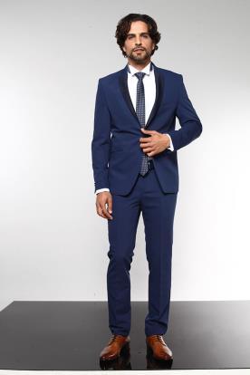 חליפת חתן סמוקי כחול נייבי