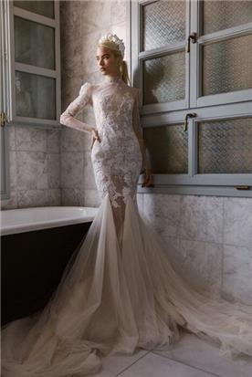 שמלה כלה עם מחשוף גב
