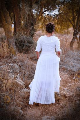 שמלת כלה עם מלמלות