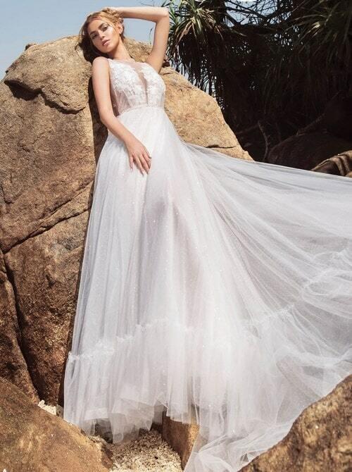 שמלת ערב עם חלק תחתון קצר