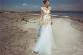שמלת כלה עם חצאים טול נמוכה