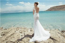 שמלת כלה מרשימה בעיצובה של שיר קדוש